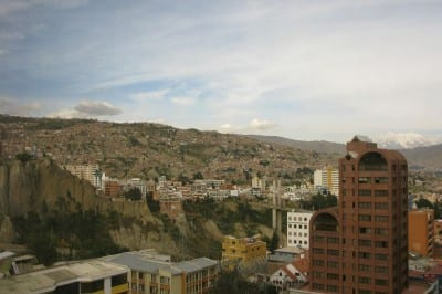 Finally in La Paz, Bolivia