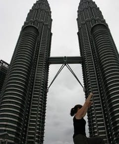 climbing petronas towers