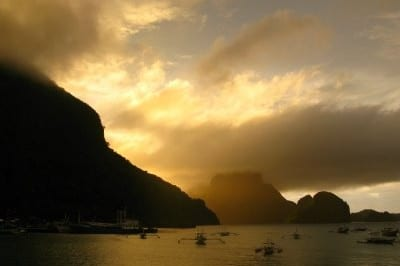 A Golden Sunset in El Nido, Philippines