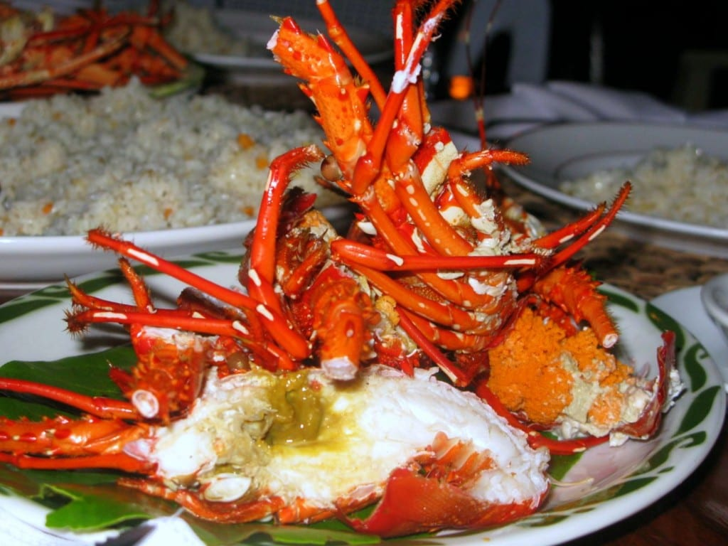 Lobster steamed to perfection