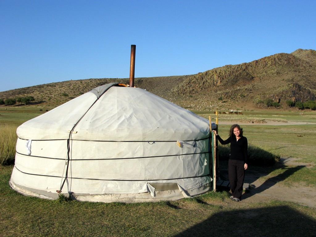 Me and my yurt in the Gobi Mongolia