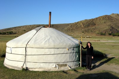 Me and my yurt in the Gobi Mongolia