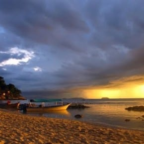 Sunset over Perhentian Kecil with Storm Rolling In