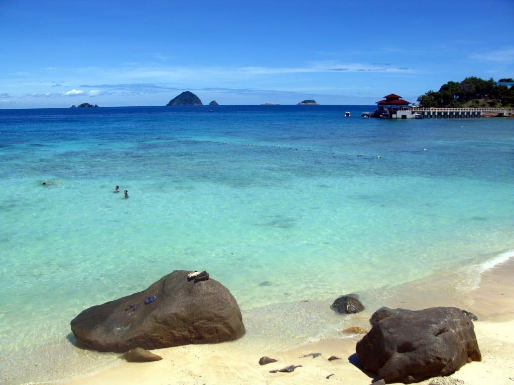 Coral beach in Perhential kecil