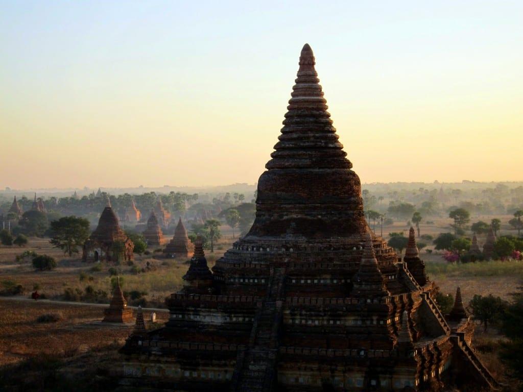 Sunrise over Buledi temple in Bagan, Myanmar (Burma)
