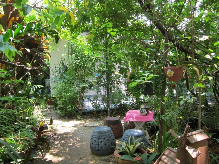 garden on rajwithee, bangkok