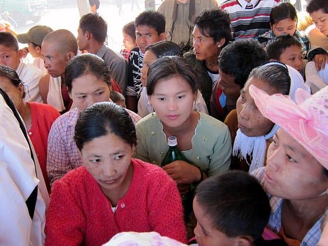 Transport to the Golden Rock in Myanmar