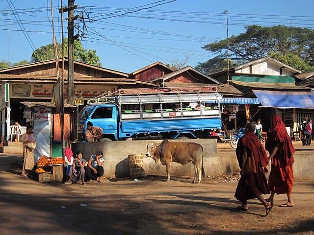bus rides in myanmar