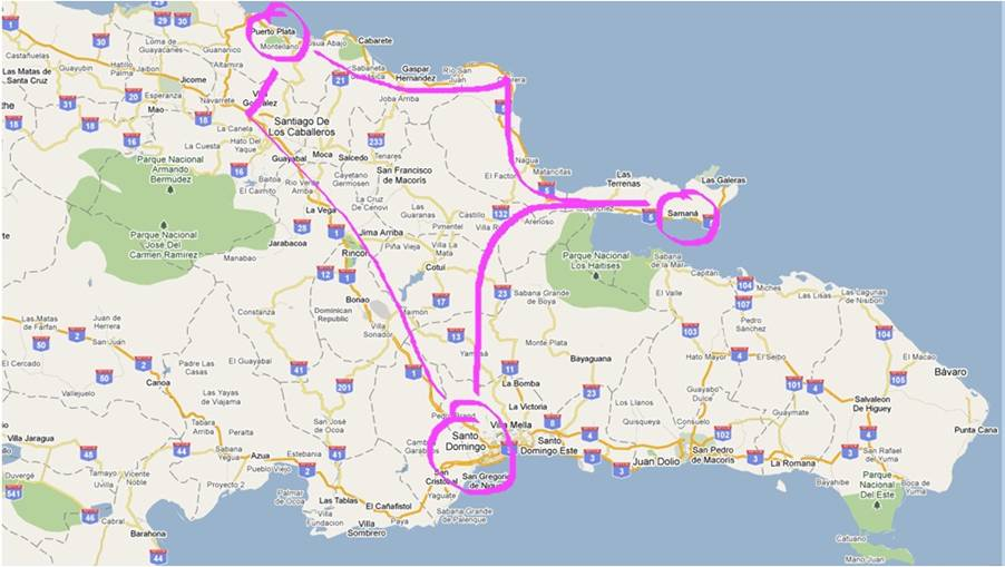 itinerary dominican republic north coast