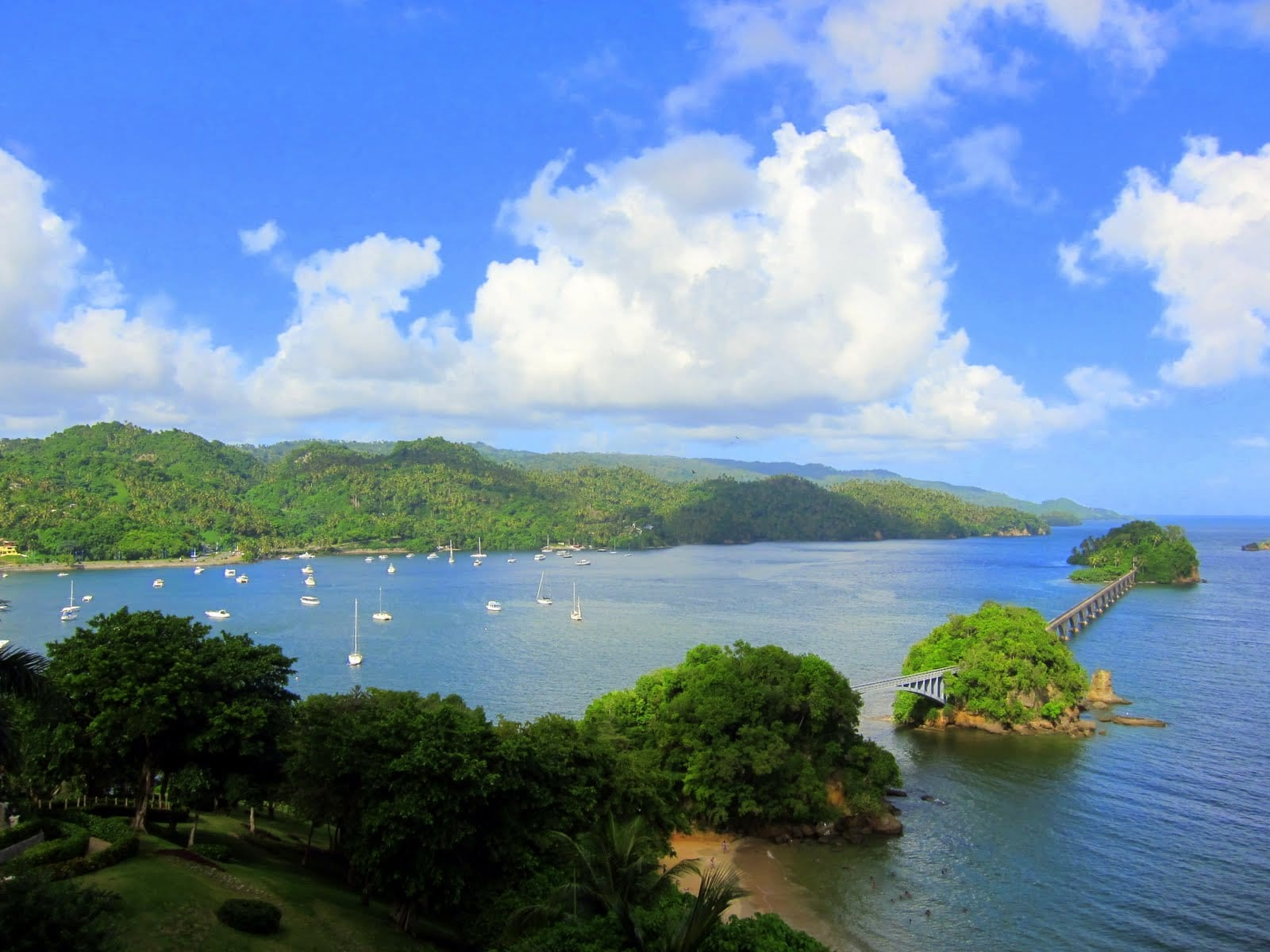 Beautiful Samana Peninsula, dominican republic north coast