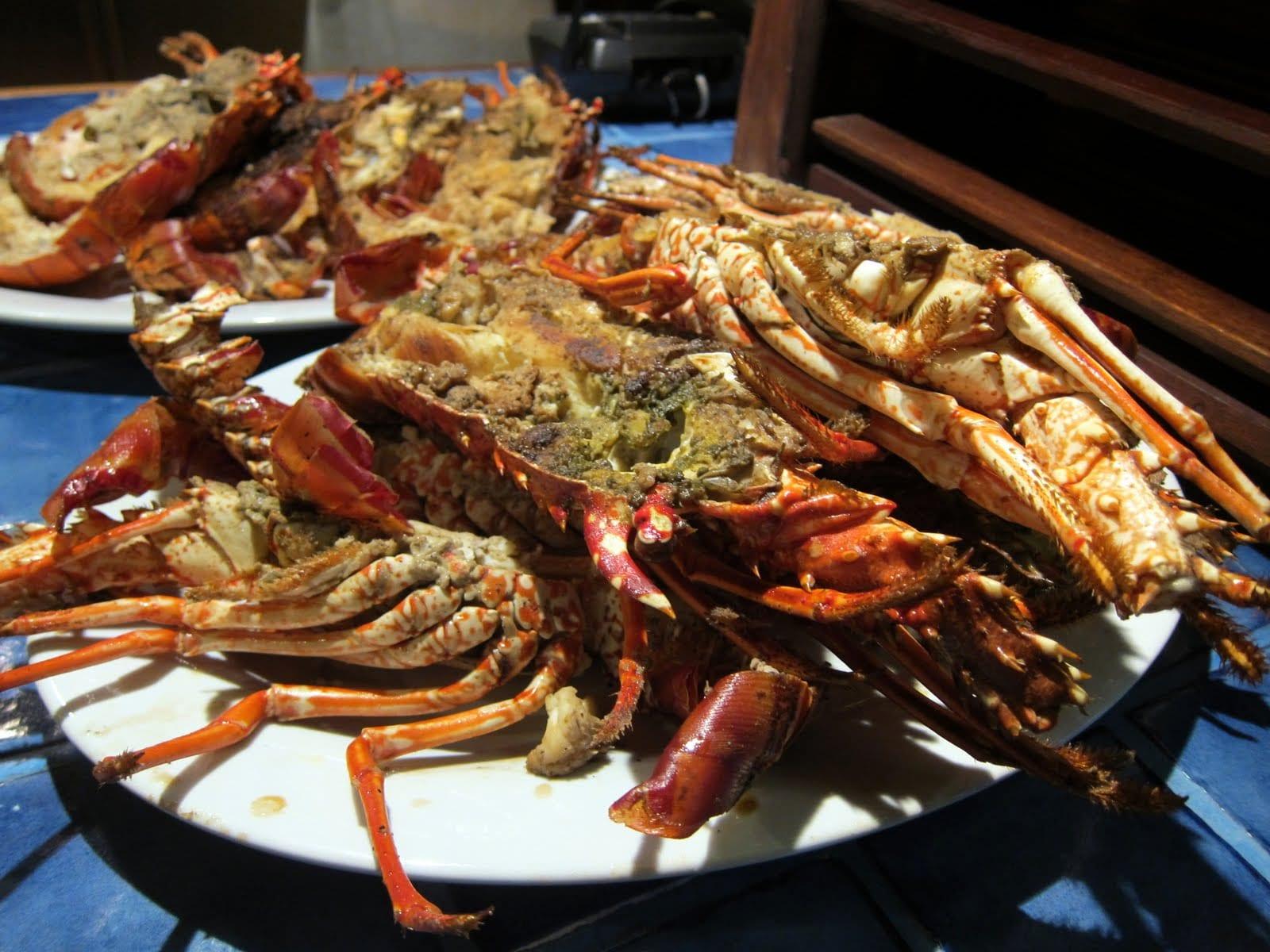 Lobster dinner in Cabarete