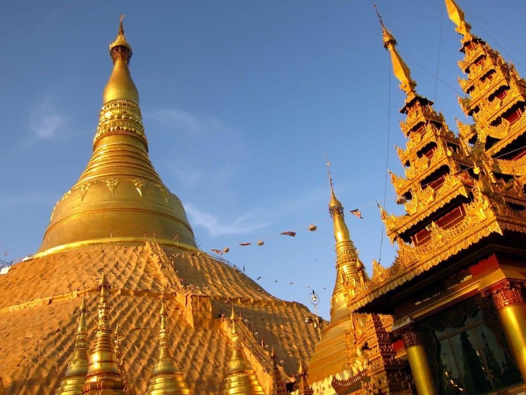 Shwedaggon pagodas Yangon Burma