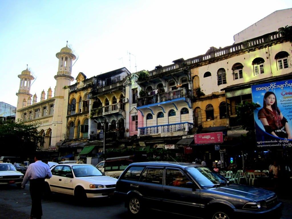 My favourite block of buildings in Yangon