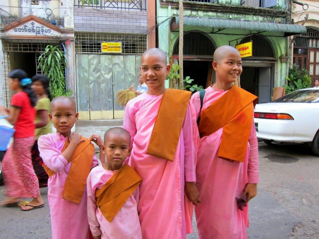 Nuns on the streets of Yangon