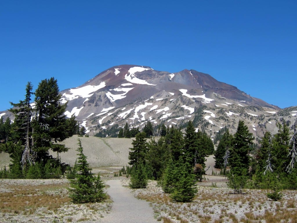 From halfway up, still quite a long way to go to the summit of South Sister!