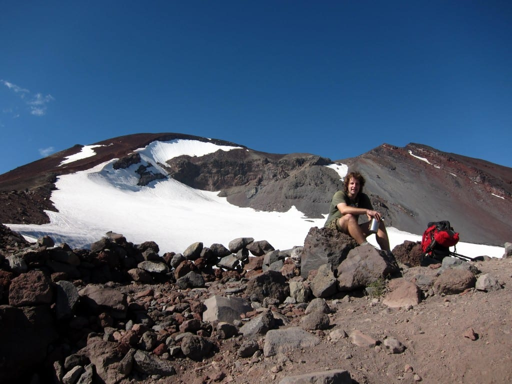 climbing south sister - 8,400 ft up