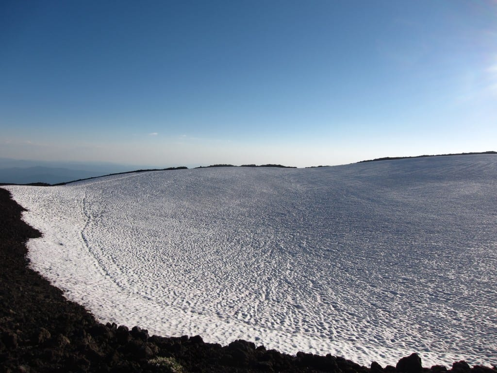 Summit crater on South Sister Oregon