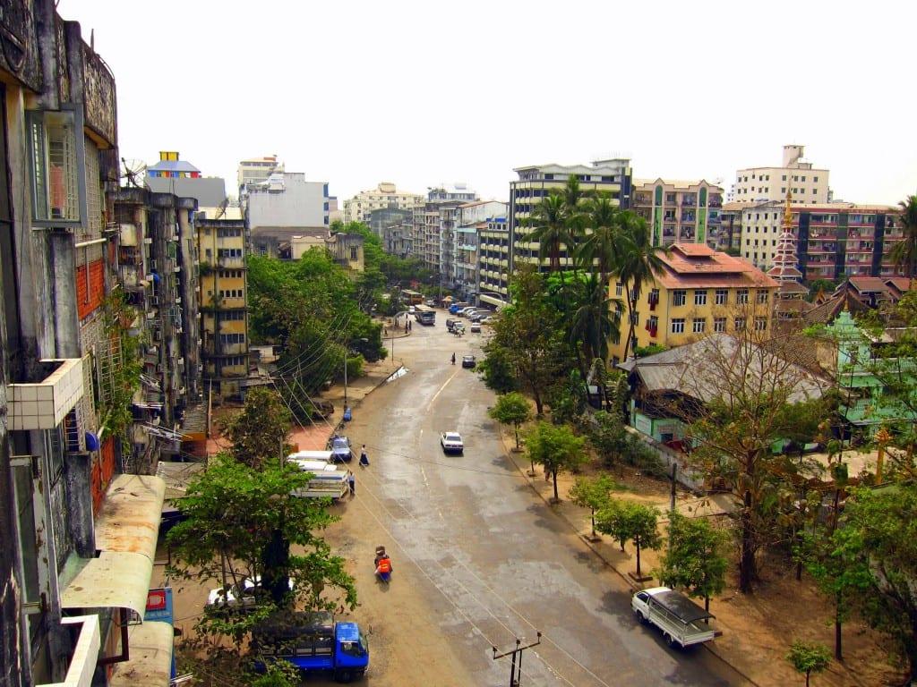 Apartment block in Yangon