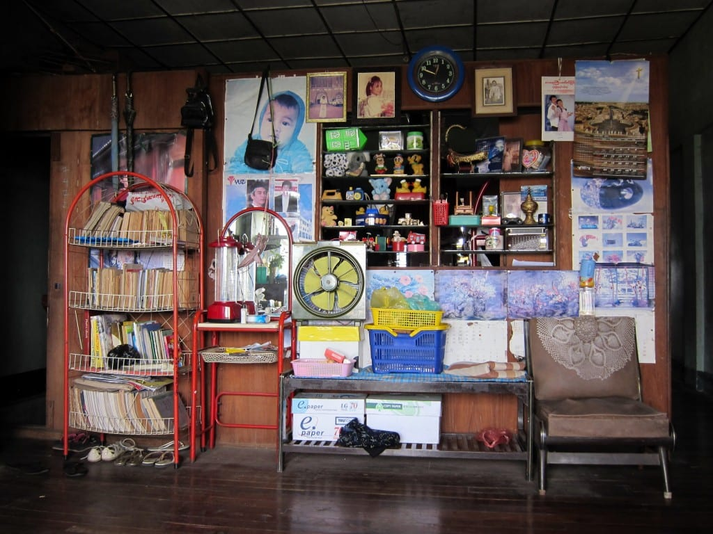 Inside a Yangon apartment