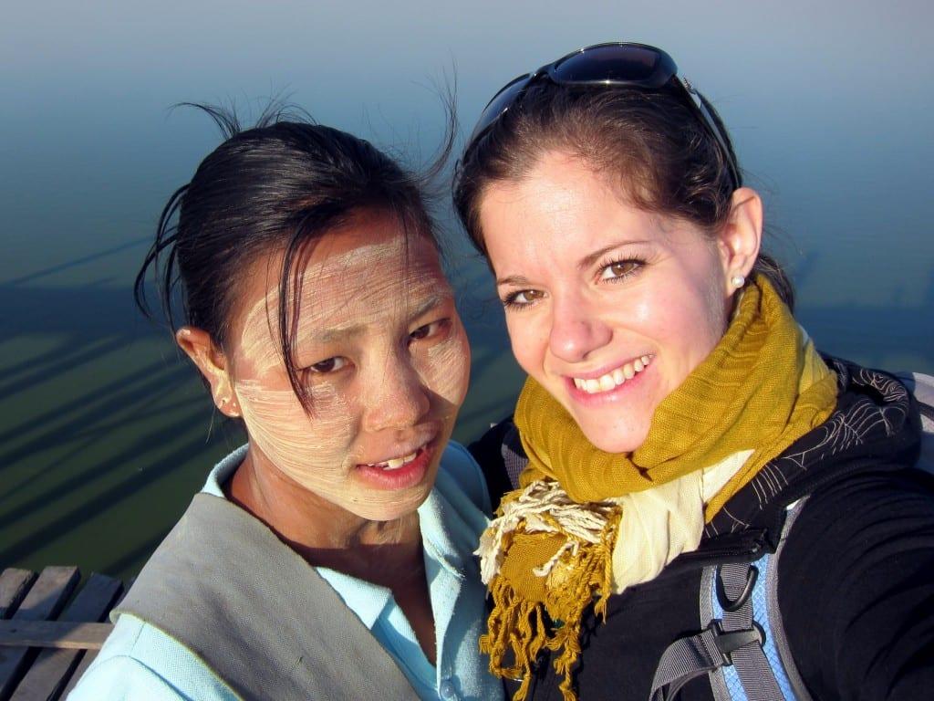 New friends on U Bein Bridge Mandalay