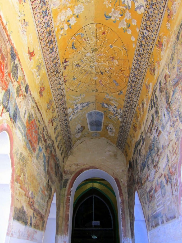 Beautiful frescos in the monastery near U Bein Bridge
