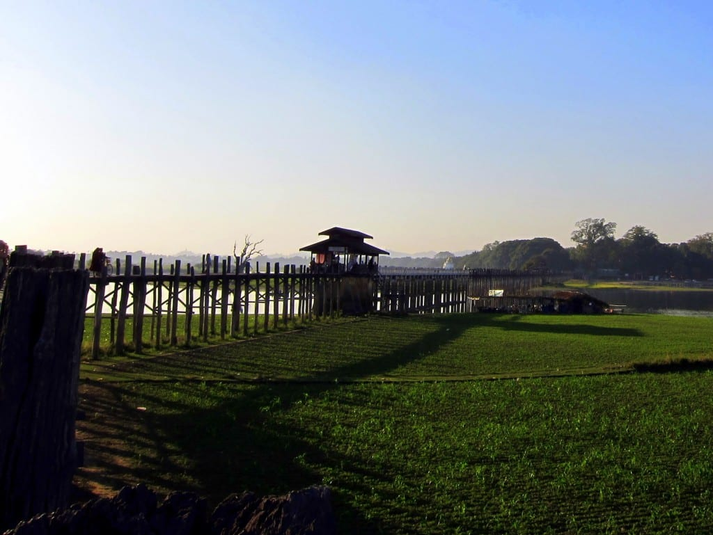 mandalay's U bein bridge in Myanmar
