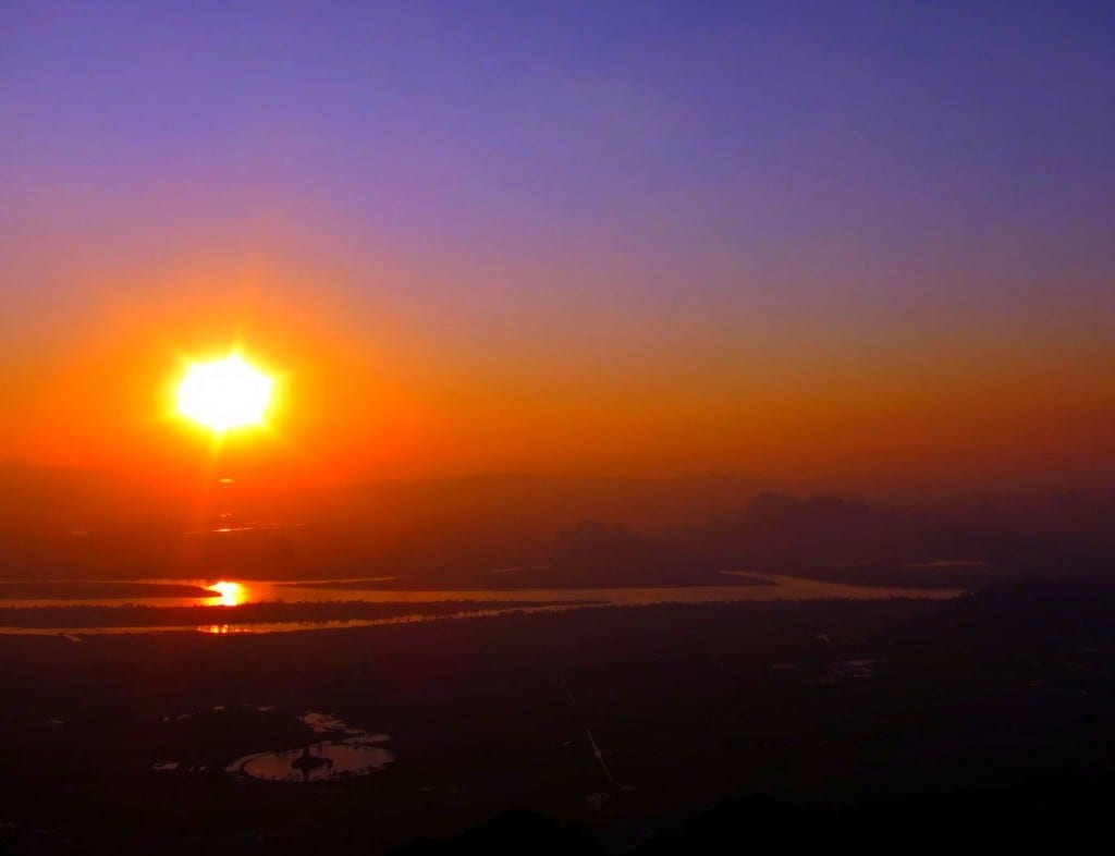 A beautiful sunset atop Zwegabin