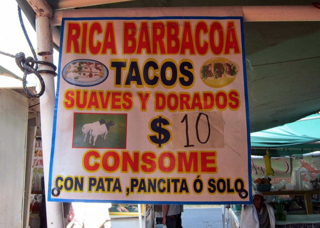 Tacos in the market in Polanco, Mexico city