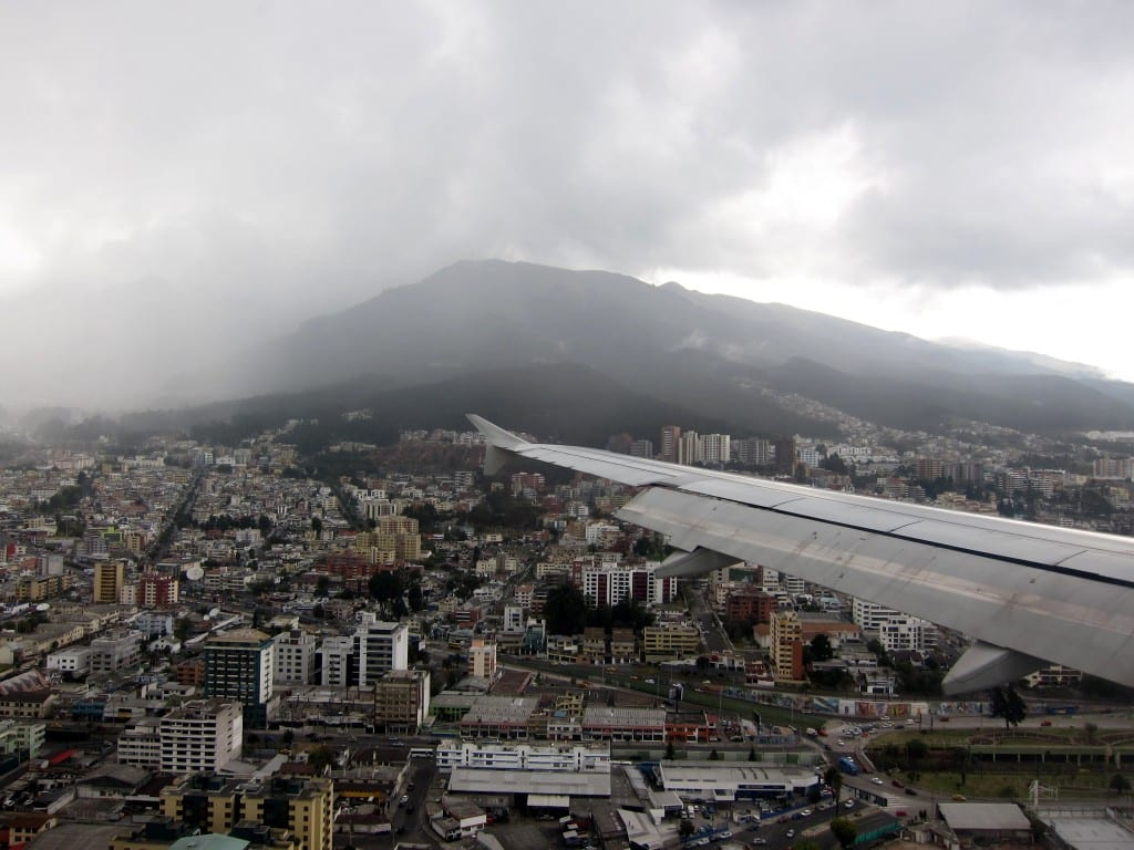 landing at mariscal sucre -- right in the middle of Quito!