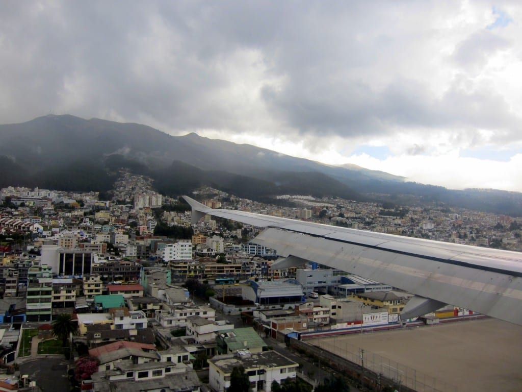 Landing at Mariscal Sucre - not for the faint of heart.