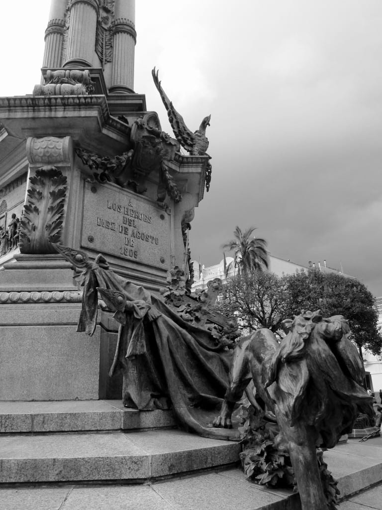 Monument in Plaza de la Independencia, Quito