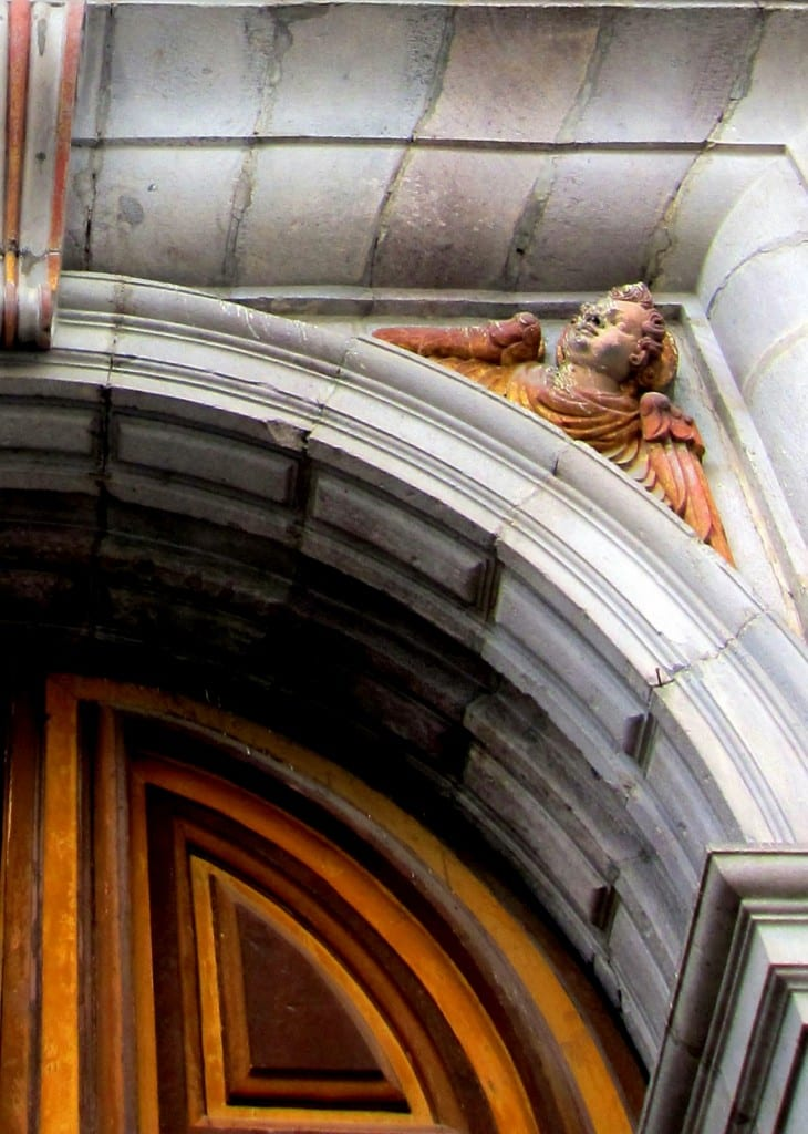 Church doors off of Plaza Santo Domingo