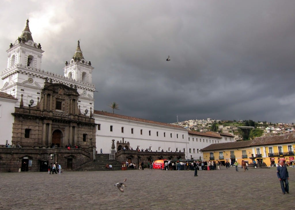 St Francis Church in Quito's Plaza San Francisco
