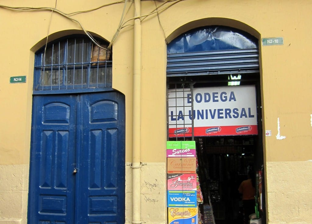 Storefront in Plaza San Francisco in Quito