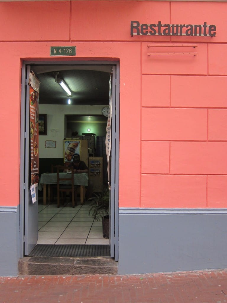 Restaurant on Flores Street, Old Quito