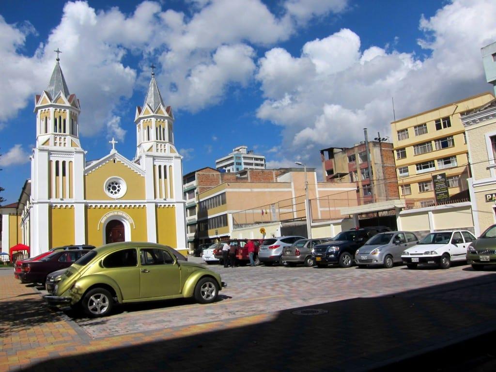 Beautiful colours near Quito's main post office, off Amazonas Street