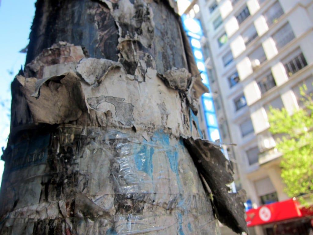 Lamp post in Montevideo uruguay
