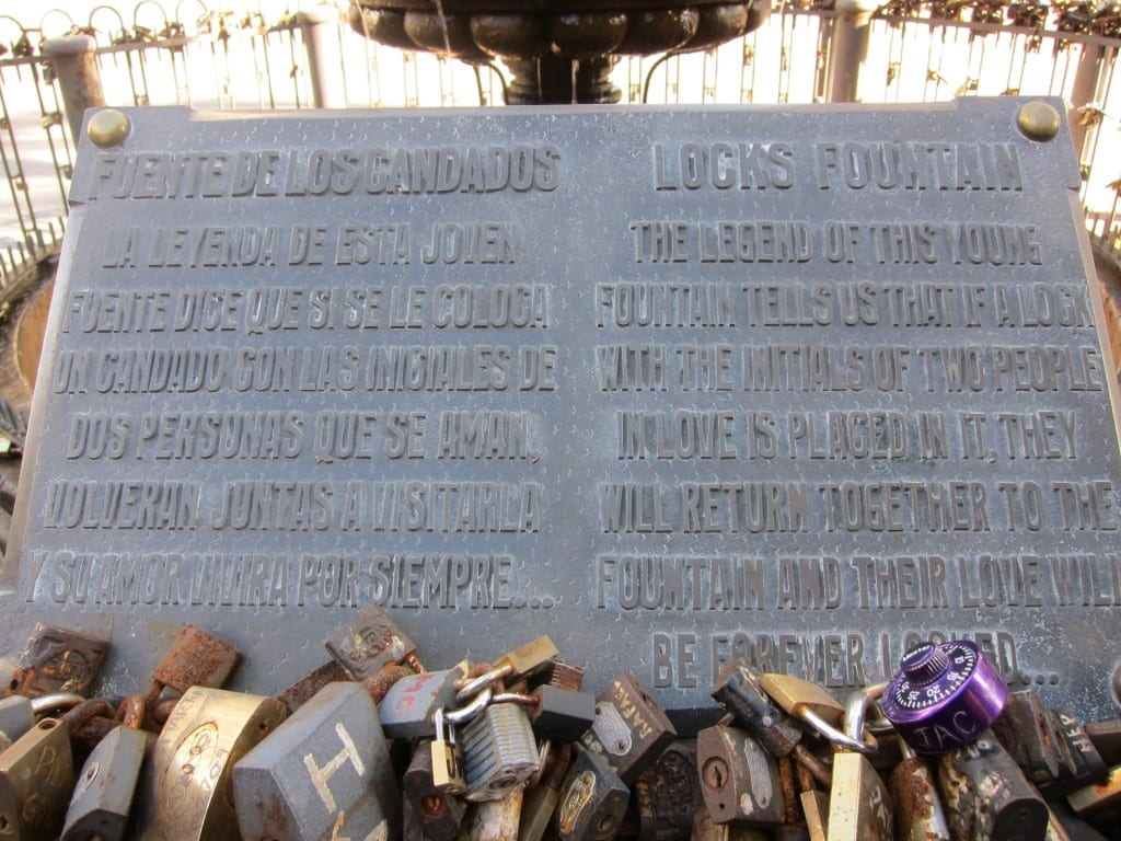 Locks bound together in Montevideo Uruguay