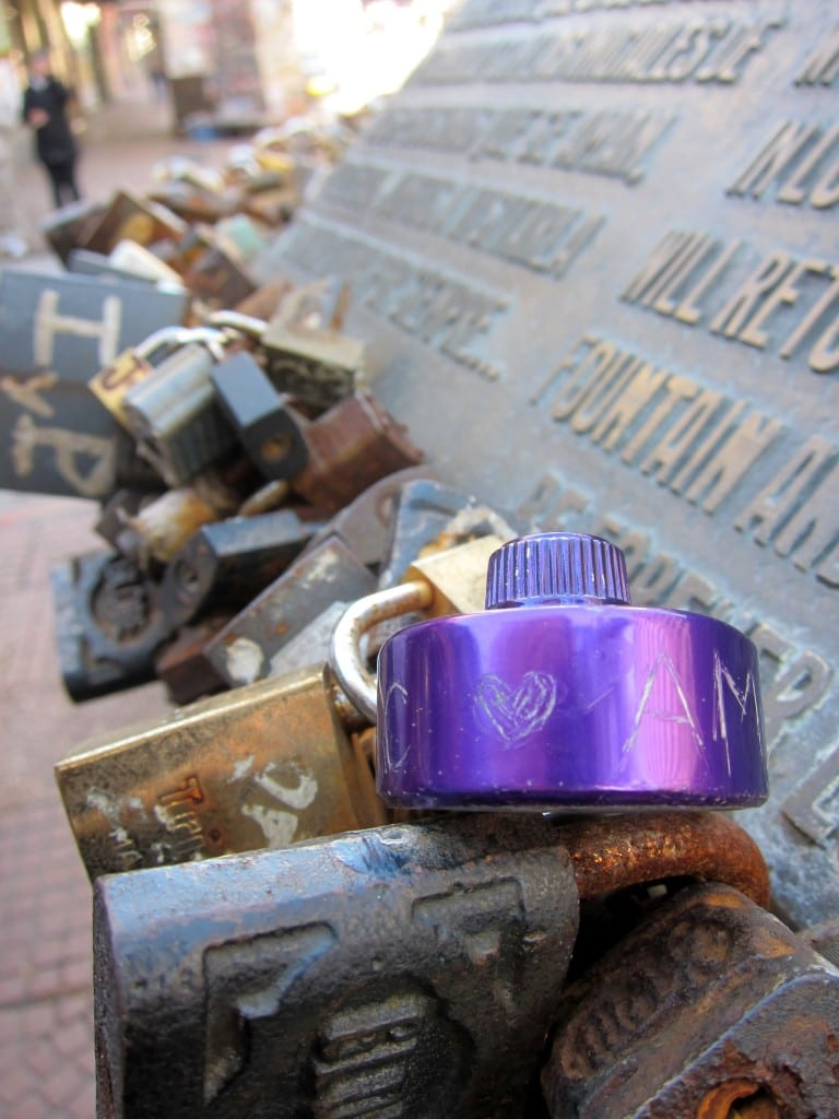 Montevideo locks of love