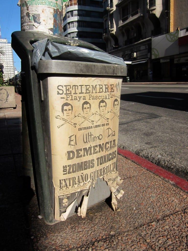 Trash bin in Montevideo, uruguay
