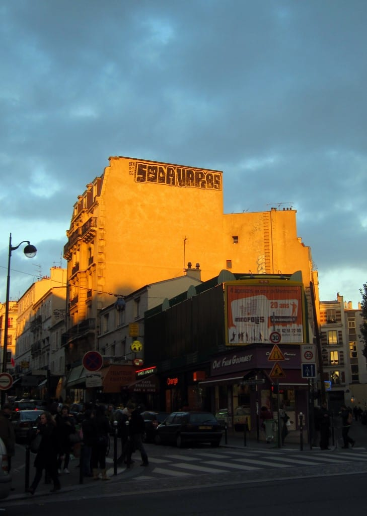 I liked the contrast of the graffiti against the sky in Montmartre