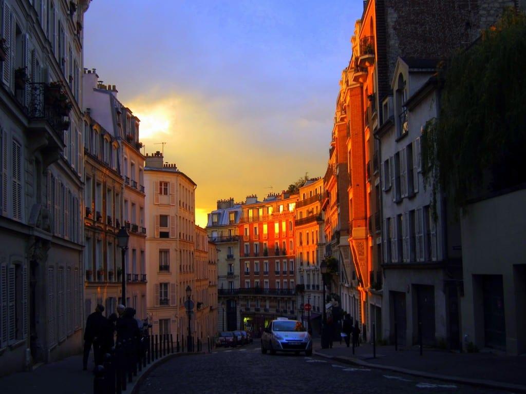 Montmartre's Avenue Junot, winding up toward Sacre Coeur