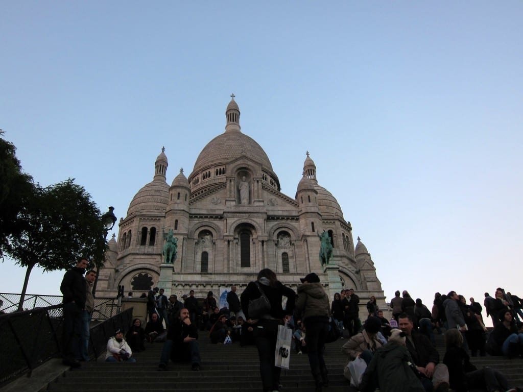 Paris' Sacré-Coeur in the late afternoon.