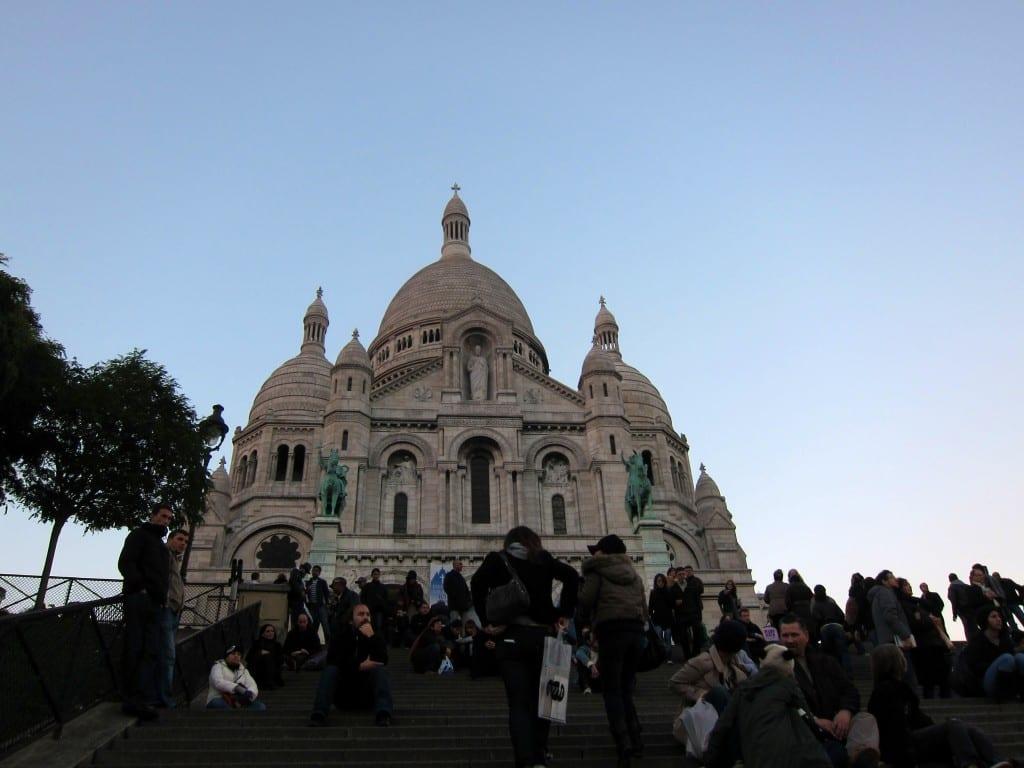 Paris' Sacré-Coeur in the late afternoon.