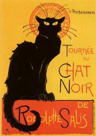 Le Chat Noir poster Paris Montmartre