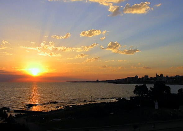 Sunset over Montevideo in 2003