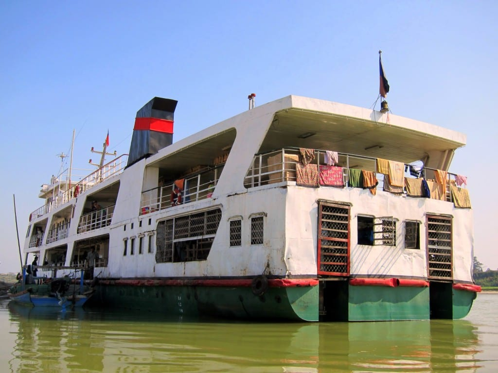 slow boat from Bhamo to Mandalay