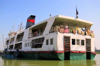 Government slow boat from Bhamo to Mandalay