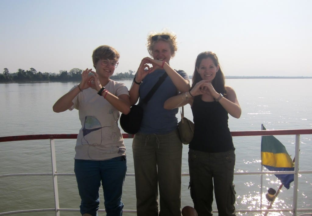 Making the international sign of the eclipse