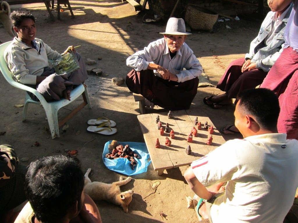 Board game in Katha, Burma